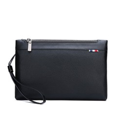 New men's bag fashion casual soft leather men's clutch black one size