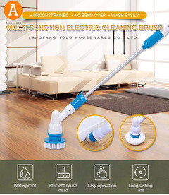 Multi-function Electric Cleaning Brush Charging Automatic Rotating Telescopic Handle Cleaning Brush blue normal