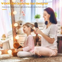Multifunctional Household Electric Hot Air Comb Straight Hair Curling Dual-purpose Hair Dryer black 38*11*9