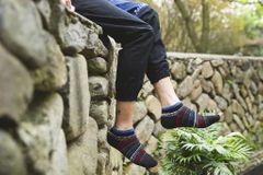 Socks Men's Stripe Boat Socks Breathable Sports Socks Comfortable Men's Cotton Socks black normal