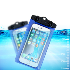 Mobile phone waterproof bag diving mobile phone touch screen universal swimming waterproof Blue tuba suitable/5.2-6Inch screen
