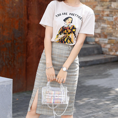 Suit / skirt summer round collar short sleeve fashion shows thin fresh sweet two-piece set s Picture Color
