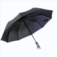 Automatic umbrella eight bone three fold windproof men and women reinforcement sunny rain size