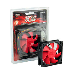 Overclocked triple high wind F105 10cm chassis fan red