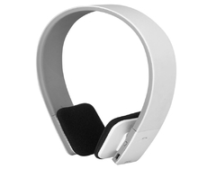 AEC Noise Reduction Wireless Bluetooth Stereo Headphone Headset for Smartphone White