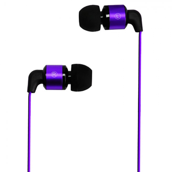 Metrans MH02 Intelligent 3.5mm Earphone Purple with Black