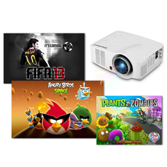 Excelvan Portable LED Wifi Android Projector 640*480 AV/HDMI/USB/SD Home Theater White One size