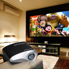 Excelvan LED/LCD Portable Mini Multimedia Projector AV /USB/VGA/HDMI/SD Home Theater 480*320 Black One size