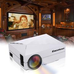 Excelvan GM60 Multimedia Mini portable LED Projector 800*480 home theater PC USB HDMI AV VGA SD White One size