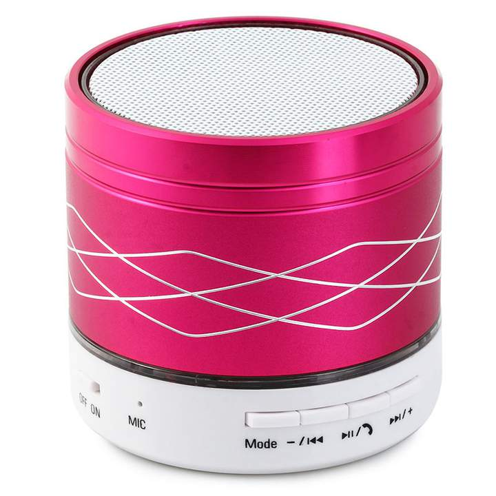 SA2 Colorful Light Portable Wireless Bluetooth Stereo Speaker with Built-in Microphone USB AUX Slot Plum One size