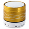 SA2 Colorful Light Portable Wireless Bluetooth Stereo Speaker with Built-in Microphone USB AUX Slot Golden One size