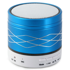 SA2 Colorful Light Portable Wireless Bluetooth Stereo Speaker with Built-in Microphone USB AUX Slot Blue One size