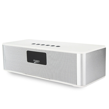 MUSKY DY21L Multimedia Mini Bluetooth Speaker with Stereo FM AUX White One size