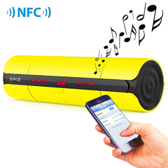 Multifunctional Portable KR8800 Matte Wireless Bluetooth V3.0 NFC Speaker with LED Screen FM Radio Yellow One Size