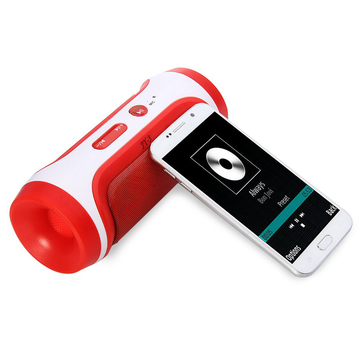 JY - 3 Outdoor Portable Wireless Bluetooth Speaker Red One Size