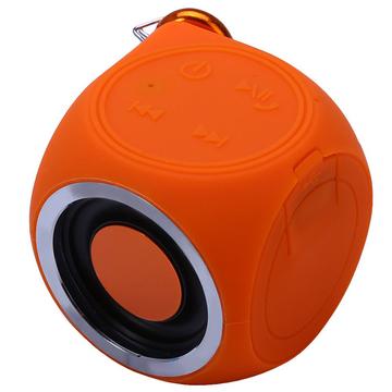 DT-B660 Bluetooth Speaker IPX7 Waterproof Built-in Rechargeable Battery Orange One Size