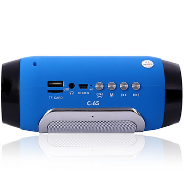 C-65 Bluetooth 3.0 Speaker with FM Mode Support TF Card Blue One Size