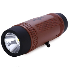ZEALOT S1 3 in 1 Outdoor Portable Bicycle Wireless Bluetooth Speaker Flashlight Power Bank Coffee One Size