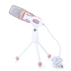 SF - 888 Computer Condenser Desktop Microphone for Network Chatting Singing Rose Gold One size none