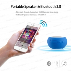 AUSDOM AS2 Portable Bluetooth Stereo AUX Waterproof IPX3 Outdoor Speaker Blue One Size