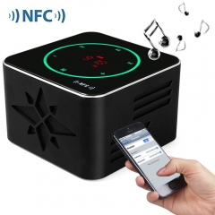 KR - 8100 NFC 3D Sound Wireless Bluetooth  LED Display Light Sensitive Touch Button Speaker Black One Size