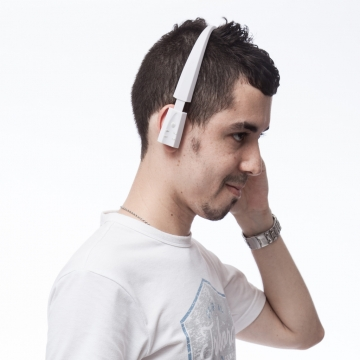 Excelvan Bluetooth 3.0 Stereo Wireless Sports Headphone with Call Mic White