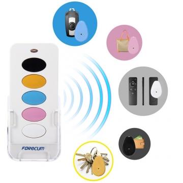Forecum 5 in 1 Remote Wireless Key Finder Intelligent Anti-lost Alarm-White White One size