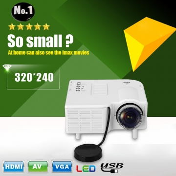 Excelvan LED/LCD Portable Mini Multimedia Projector GM40 White One size