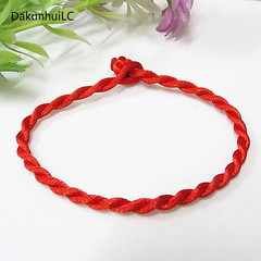 Hot Sale 2019 2PCS Fashion Red Thread String Bracelet Lucky Red Handmade Rope Bracelet RED one size