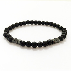 2019 New Fashion Geometric Beaded Men Bracelets Simple Classic Stone Bead Charm Bracelets & Bangles 1 one size