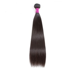 AF Queen Hair Brazilian Virgin Human Hair Bundles 1 Bundle 50g Straight Human Hair Weave For Wigs natural black 16inches