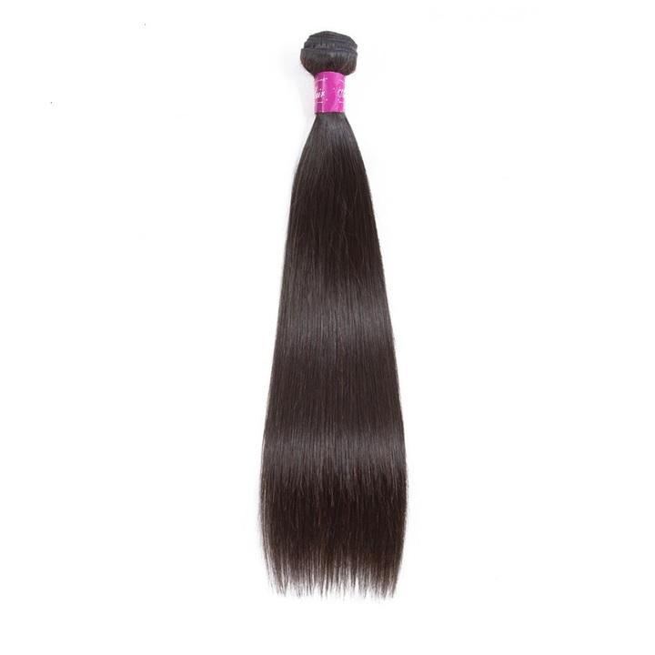 AF Queen Hair Brazilian Virgin Human Hair Bundles 1 Bundle 50g Straight Human Hair Weave For Wigs natural black 8inches