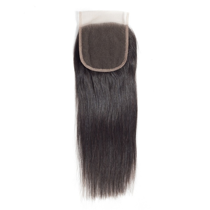 """4x4"""" Lace Closure Straight  Brazilian Virgin Hair Human Hair Lace Closures For  Wigs natural black 8inches"""