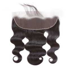 13x4 Lace Frontal Closures Body Wave Brazilian Unprocessed Virgin Human Hair Ear to Ear Closure natural black 10inches