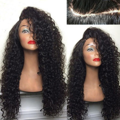 Kinky Curly Wigs Synthetic Hair Wigs African Wig Afro Curly Wig  Women's Wigs black as shown