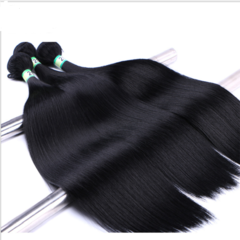 Synthetic Straight Hair Weaves Straight Hair Extensions Synthetic Hair Weave natural black 10inches