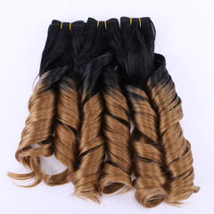 Ombre Synthetic Hair Weaves Colored 1b/27 Natural Wave 3 Bundles 210grams Synthetic Hair Extensions as shown 16 16 16