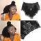 Afro Kinky Curly Clip In Hair Weaves Clip Ins Virgin Human Hair Extensions Natural 8Pcs/Set 120G natural black 8inches