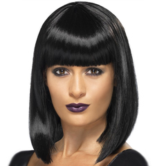 Bob Wigs Bobo Wigs Short Wigs Synthetic Hair Wig Natural Bob Hairs Wigs With Bangs black average