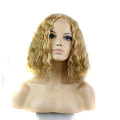 Natural Wave Wigs Synthetic Hair Short Wigs Wavy Hairs Wig Synthetic Hair Wigs 613/blonde average