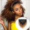 Afro Kinky Curly Clip In Hair Ombre Human Hair Clip In 1b/4/27 Color Hairs 8 Sets Clip in Wigs As shown 12inches
