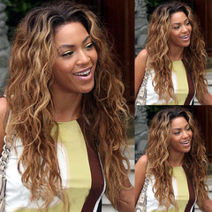 Ombre Natural Wave Hairs Synthetic Hair Wigs Ombre Synthetic Hair Wigs 28inhes Long Hair Ombre Wigs as shown 28inches