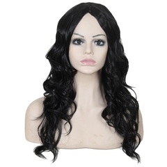 Long Wavy Hairs Synthetic Hair Wigs Loose Wave Hair Synthetic Hair Wigs Natural Hair Wigs color 1 28inches