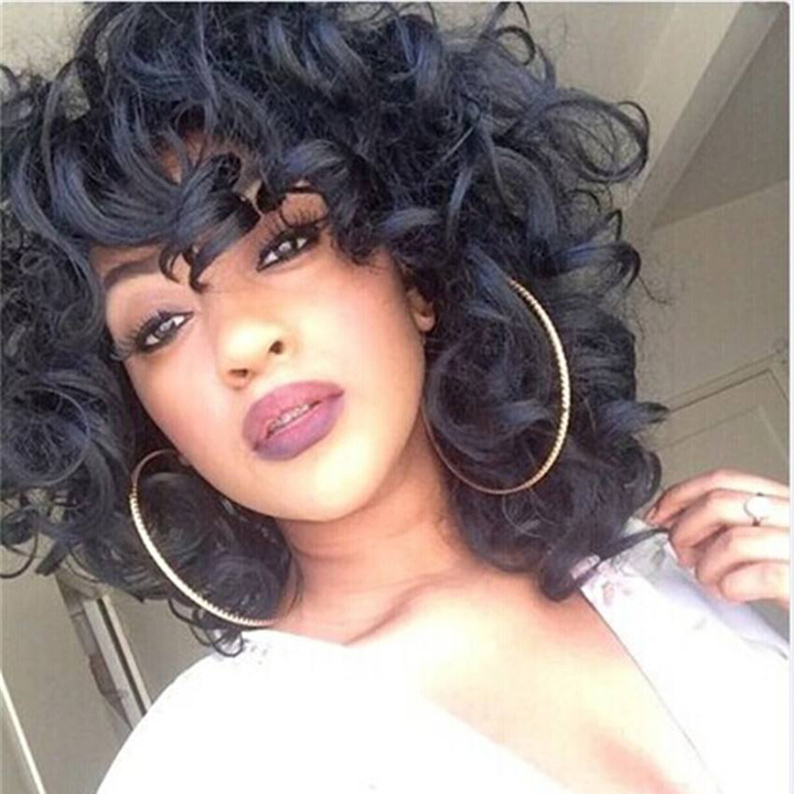 Short Loose Curly Hair Wigs Synthetic Hair Curly Hair Wigs Short Bob Wigs Curly Wigs as shown 18inches