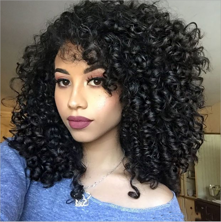 AF Queen Hair Short Bob Curly Wigs Deep Kinky Curly Wigs Synthetic Hair Wigs Curly Wigs black average
