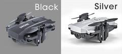Mini folding four-axis UAV aircraft remote control aircraft black 20*15*6