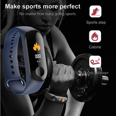 Newest M3 Smart Bracelet Color-screen Waterproof Fitness Tracker Sports Monitor Smart Watch red 260*19*11mm