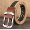 New Product Fashionable Multi-style Canvas Belt Leisure Belts khaki stripe 3.8cm*105cm
