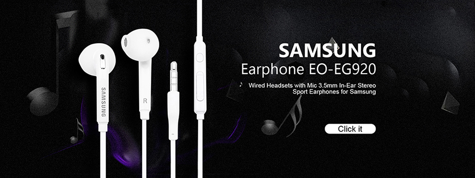 Samsung Earphones EHS64 Headsets With Built-in Microphone 3.5mm In-Ear Wired Earphone For Smartphone white 1