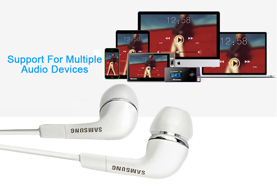 Samsung Earphones EHS64 Headsets With Built-in Microphone 3.5mm In-Ear Wired Earphone For Smartphone white 10